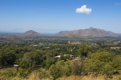 View over Zomba from the Zomba Plateau, Malawi, Africa by Michael Runkel