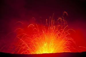 Volcano Eruptions at the Yasur Volcano, Island of Tanna, Vanuatu, South Pacific by Michael Runkel