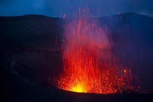 Volcano Eruptions at Yasur Volcano, Island of Tanna, Vanuatu, South Pacific by Michael Runkel