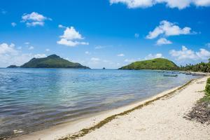 White sand beach on Yanuya Island, Mamanuca Islands, Fiji, South Pacific by Michael Runkel