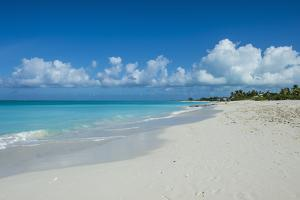 World famous white sand on Grace Bay beach, Providenciales, Turks and Caicos, Caribbean by Michael Runkel
