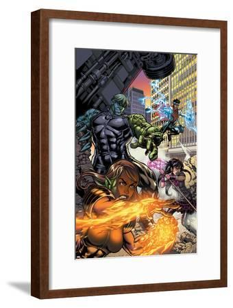 Secret Invasion: Runaways/Young Avengers No.1 Cover: Hulkling and Wiccan