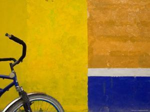 Bicycle Waits for its Owner on a Cozumel Side Street, Mexico by Michael S. Lewis