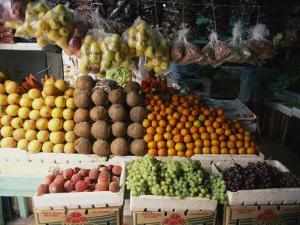 Fruit Market, Cozumel, Mexico by Michael S^ Lewis