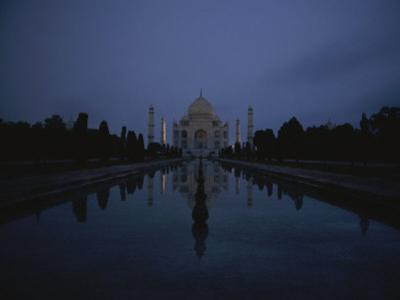 Night View of the Famous Taj Mahal by Michael S^ Lewis