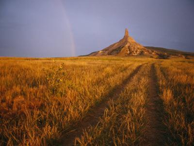 Scenic View of Western Nebraska Landscape Along the Oregon Trail by Michael S^ Lewis