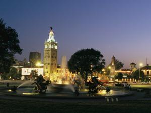 The Plaza in Kansas City at Night by Michael S^ Lewis