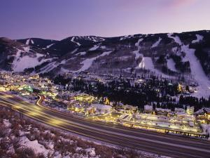View over I-70, Vail, Colorado by Michael S Lewis