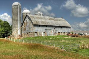 Barn and Silo, Minnesota, USA by Michael Scheufler