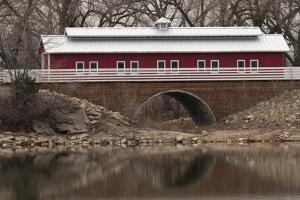 Train Bridge, Kansas, USA by Michael Scheufler