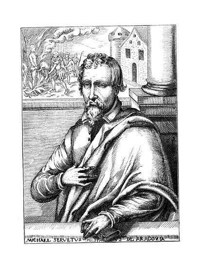 Michael Servetus, Spanish Theologian and Phycisian, (1511-155) 1727--Giclee Print