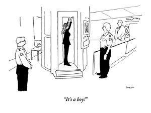 """It's a boy!"" - New Yorker Cartoon by Michael Shaw"
