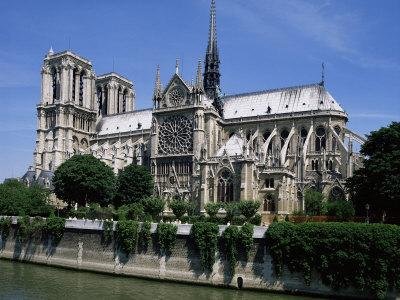 Notre Dame Cathedral from the Left Bank, Paris, France