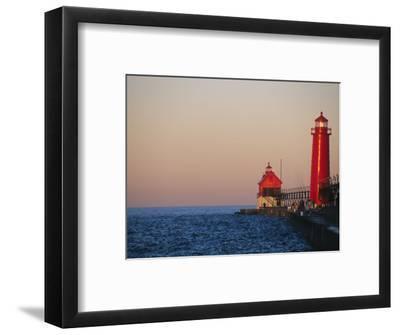 Grand Haven Lighthouse on Lake Michigan, Grand Haven, Michigan, USA