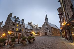 Place Royale, Quebec City, Province of Quebec, Canada, North America by Michael Snell