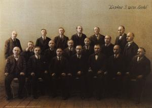 Father, Third from Left by Michael Sowa