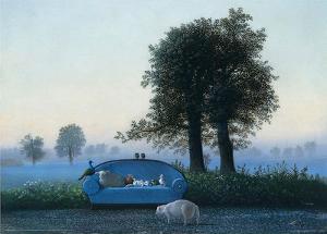 The Blue Sofa by Michael Sowa