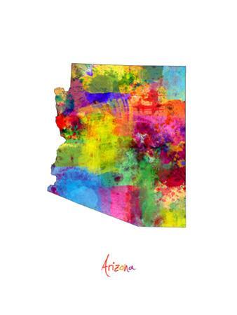 Arizona Map by Michael Tompsett