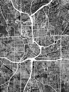 Atlanta Georgia City Map by Michael Tompsett