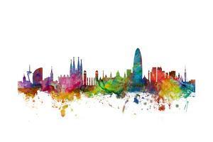 Barcelona Spain Skyline by Michael Tompsett