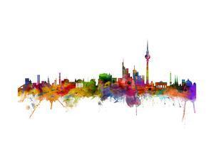 Berlin Germany Skyline by Michael Tompsett