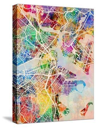Boston Massachusetts City Street Map by Michael Tompsett