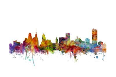 Buffalo New York Skyline by Michael Tompsett
