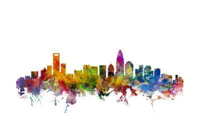 Charlotte North Carolina Skyline by Michael Tompsett