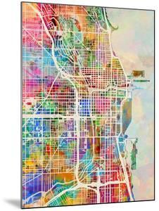 Chicago City Street Map by Michael Tompsett