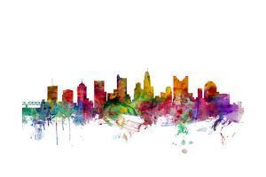 Columbus Ohio Skyline by Michael Tompsett