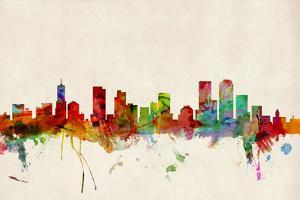 Denver Colorado Skyline by Michael Tompsett