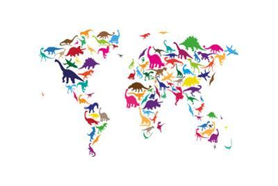 Dinosaur Map of the World Map