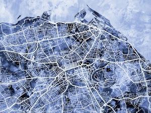 Edinburgh City Street Map by Michael Tompsett