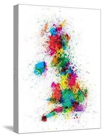 Great Britain UK Map Paint Splashes