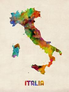Beautiful michael tompsett artwork for sale art and prints the italy watercolor map italia michael tompsett gumiabroncs Image collections