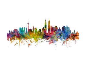 Kuala Lumpur Malaysia Skyline by Michael Tompsett