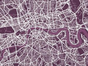 London England Street Map by Michael Tompsett