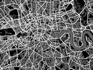 London Map Art by Michael Tompsett