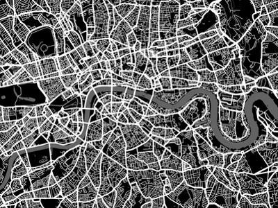 London Map Art by Michael Tompsett