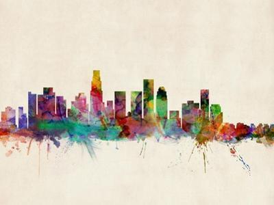 Los Angeles City Skyline by Michael Tompsett