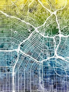 Los Angeles City Street Map by Michael Tompsett