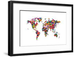 Love Hearts Map of the World by Michael Tompsett