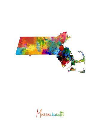 Massachusetts Map by Michael Tompsett