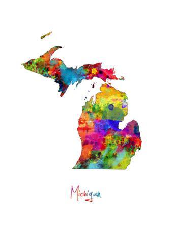 Michigan Map by Michael Tompsett