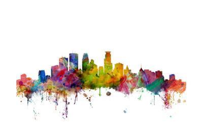 Minneapolis Minnesota Skyline by Michael Tompsett