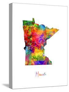 Minnesota Map by Michael Tompsett