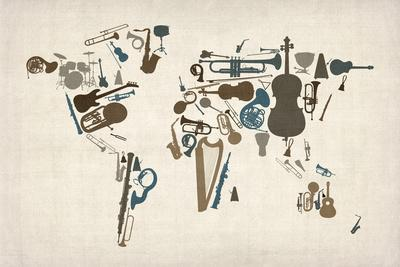 Musical Instruments Map of the World