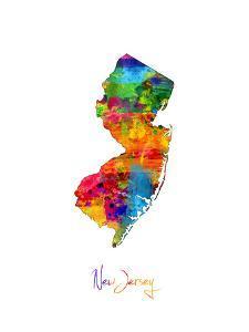 New Jersey Map by Michael Tompsett