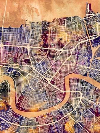 New Orleans Street Map by Michael Tompsett