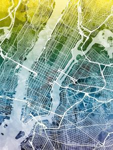 New York City Street Map by Michael Tompsett